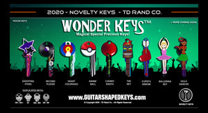 Wonder Keys by TD RAND CO. Slide 3 ballerina, shooting star, hula, tike, colorado keys.