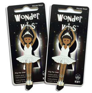 2 White Dress Ballerina Shaped Wonder Keys!