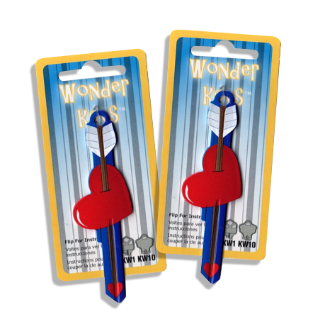 2 Cupids Arrow Shaped Wonder Keys!