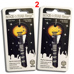 2 Darkburst LP Guitar Shaped Rock Star Keys