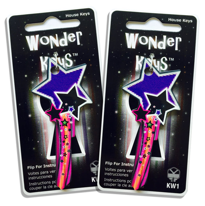 2 Purple Shooting Star Shaped Wonder Keys!