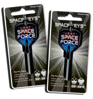 2 SPACE FORCE Shield Shaped Space Keys! NEW!!!
