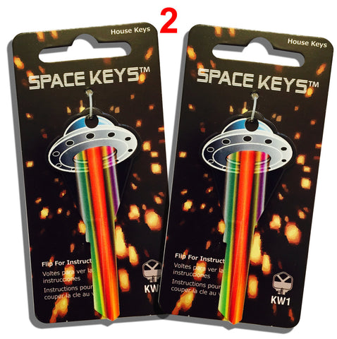 2 Pcs. UFO Flying Saucer Shaped Space Keys