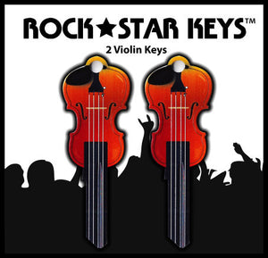 2 pcs. Violin Shaped Rock Star Keys