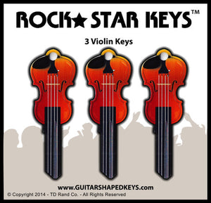 3 Violin Shaped Rock Star Keys