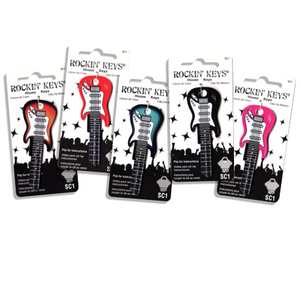 Set of 5 Electric Guitar Shaped Rockin' Keys!