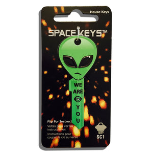 Green Alien Head Shaped Space Key