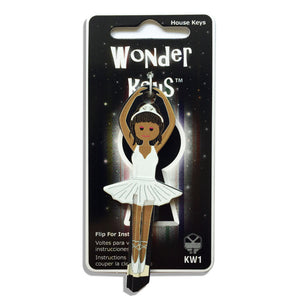 White Dress Ballerina Shaped Wonder Key!