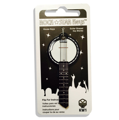 NEW - BANJO Guitar Shaped Rock Star Key