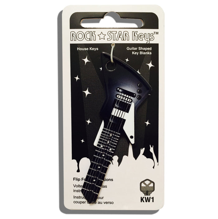 Black EXP Guitar Shaped Rock Star Key