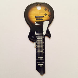 Wide Body Guitar Shaped Darkburst LP Rock Star Key