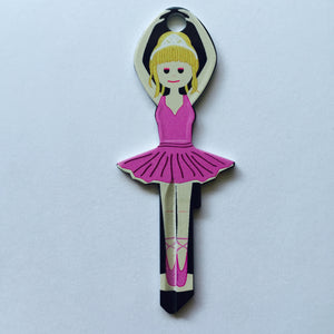 Pink Dress Ballerina Shaped Wonder Key!