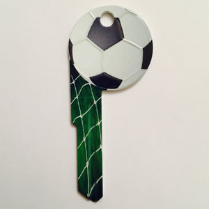 Soccer Ball Shaped Sporty Key