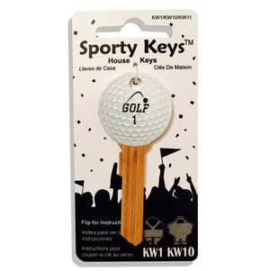 Golf Shaped Sporty Key