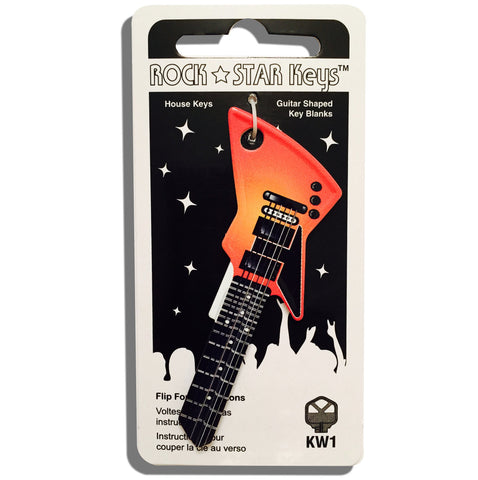 Orange EXP Guitar Shaped Rock Star Key