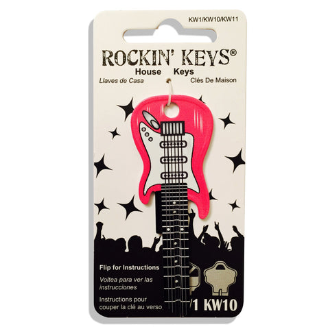 Pink Electric Guitar Shaped Rockin' Key