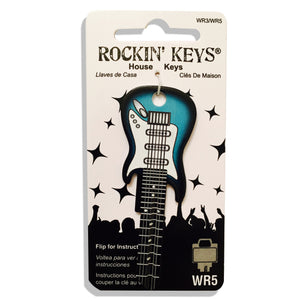 Surf Green Electric Guitar Shaped Rockin' Key