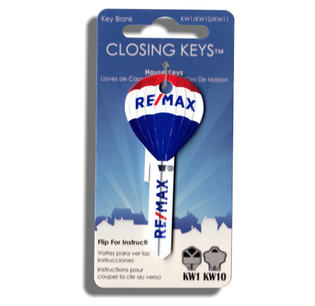 100 Pcs. RE/MAX Hot Air Balloon Shaped Keys - Updated RE/MAX Finish