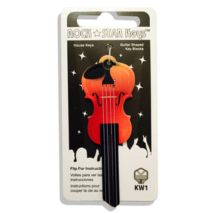 Violin Shaped Rock Star Key
