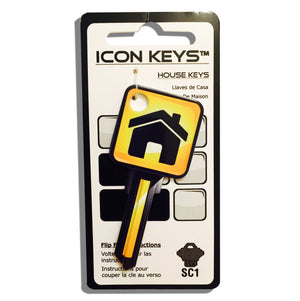 Yellow House Over Sized Head ICON Key