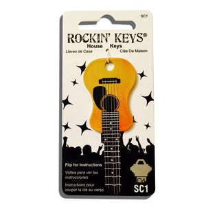 Acoustic Guitar Shaped Rockin' Key