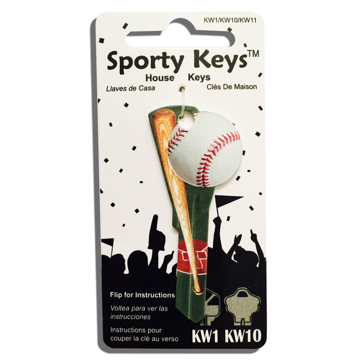 Baseball and Bat Shaped Sporty Key