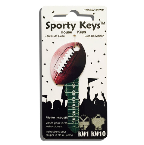 Football Shaped Sporty Key