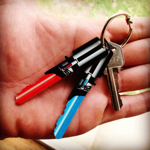 Full Set (4) Red, Purple, Green, and Light Blue Saber Shaped Space Keys!