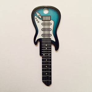 2 Surf Green Electric Guitar Shaped Rockin' Keys