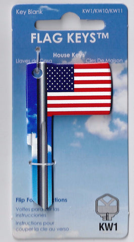USA Flag Shaped Key