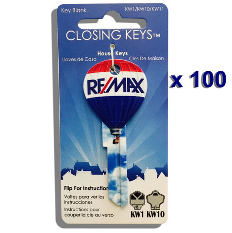100 RE/MAX Hot Air Balloon Shaped Keys - Basic RE/MAX finish