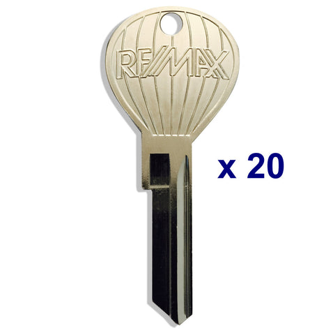 20 RE/MAX Hot Air Balloon Shaped Keys - Nickel Plate Finish