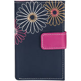 Travelon 23140 Navy Daisy Trifold