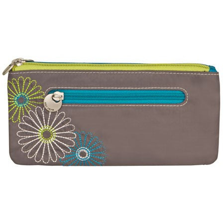 Travelon 22715 Pewter Daisy Safe ID