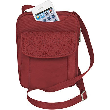 Travelon 42759 Cranberry AT Slim Pouch