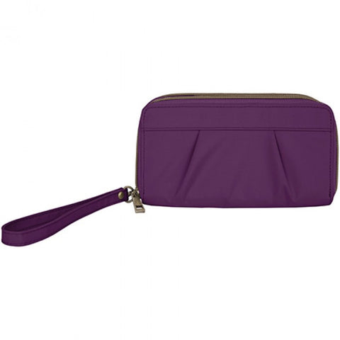 Travelon 42960 Purple Double Clutch Wallet