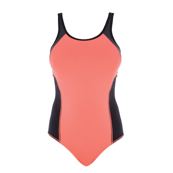 Freya-Active-Freestyle-Coral-Kick-One-Piece-Sports-Swimsuit-AS3969CKK-Front-Zoom