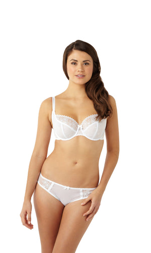Cleo-Lingerie-Lucy-Balconette-Bra-White-5851-Brief-5852-Front