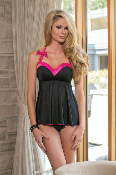 Coquette Lingerie Sweetheart Neckline Babydoll CQ1085 - Front