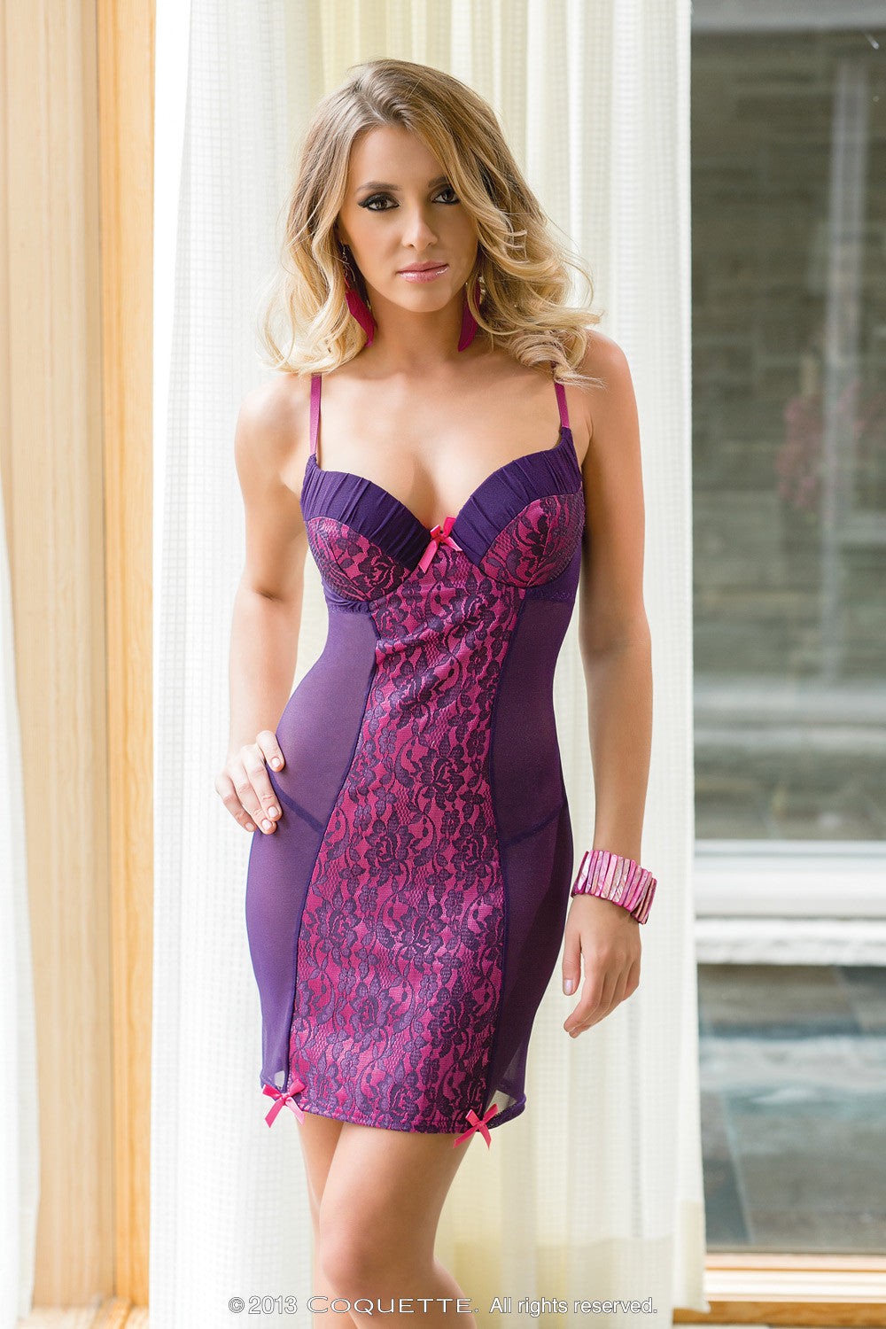 0c8c5aa2a5 Coquette Lingerie Underwired Cup Chemise CQ1184 Front