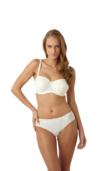 Panache-Lingerie-Evie-Bridal-Strapless-Bra-Straps-On-Ivory-6110-Brief-6112-Front