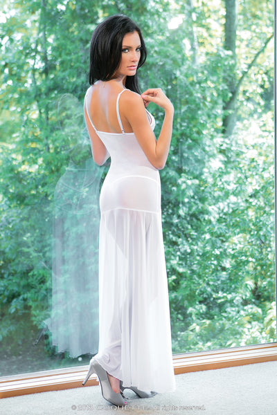 Coquette Lingerie Floor Length Night Gown White CQ1680 Back