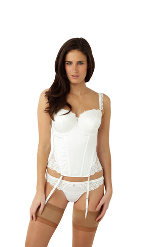 Masquerade-Lingerie-Serenity-Bridal-Basque-Ivory-Straps-7537-Thong-7539-Front