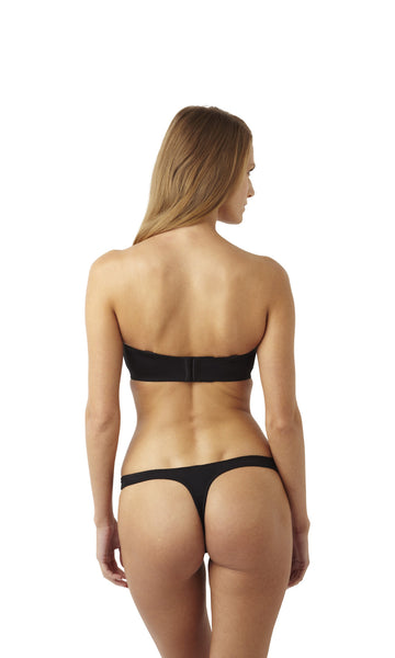 Panache-Lingerie-Porcelain-Moulded-Strapless-Bra-Black-3370-Thong-3379-Back