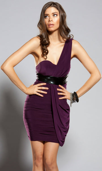 Forplay-One-Shoulder-Draped-Purple-Dress-Front
