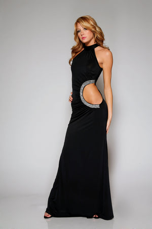 Forplay-Floor-Length-Dress-Black-Front