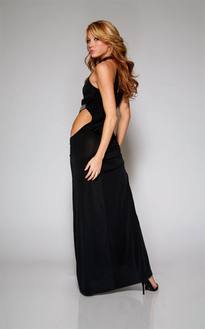 Forplay-Floor-Length-Dress-Black-Back