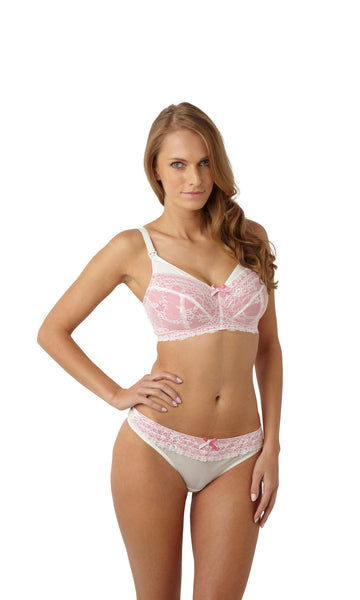 Panache-Lingerie-Sophie-Maternity-Nursing-Bra-Ivory-Pink-5821-Thong-5829-Front