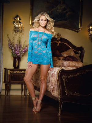 Dreamgirl-Lingerie-Blue-Long-Sleeved-Chemise-DG4208