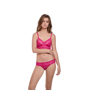 Btemptd-Lingerie-Lace-Kiss-Pink-Peacock-Bralette-WB910182621-Bikini-Brief-WB978182621-Front